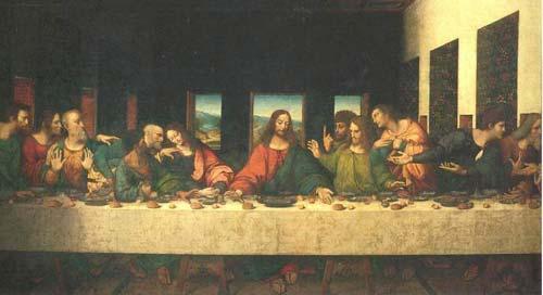 العشاء الأخير - لوحة للرسام ليوناردو دافينش