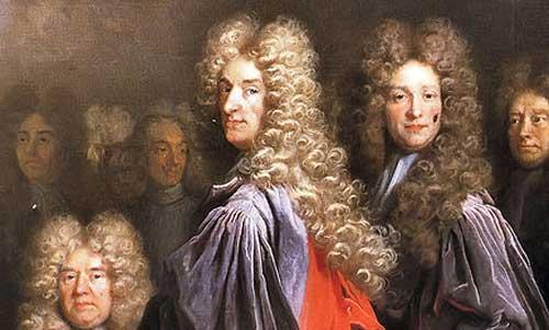 الشعر المستعار للرجال في القرن السابع عشر
