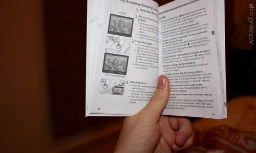 قراءة الكتيب المرفق مع الكاميرا - أول ما يجب القيام به
