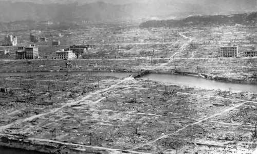 مدينة هيروشيما بعد نزول القنبلة عليها